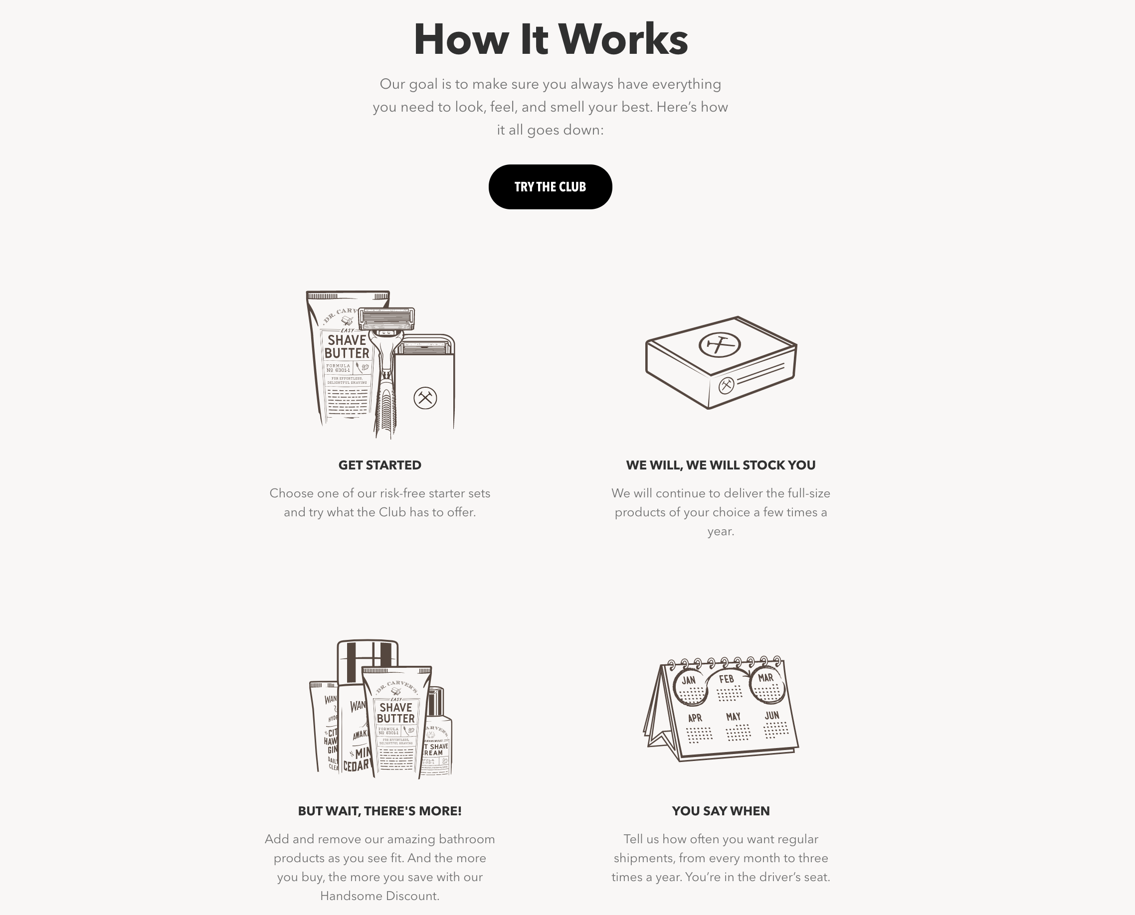 Dollar Shave Club landing page example