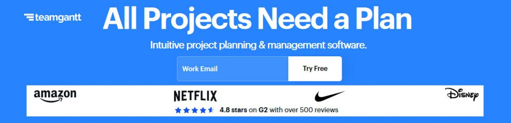 TeamGantt is a refreshing take on project planning software that brings Gantt charts online