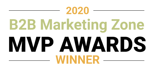 B2B Marketing Zone MVP Award winner 2020