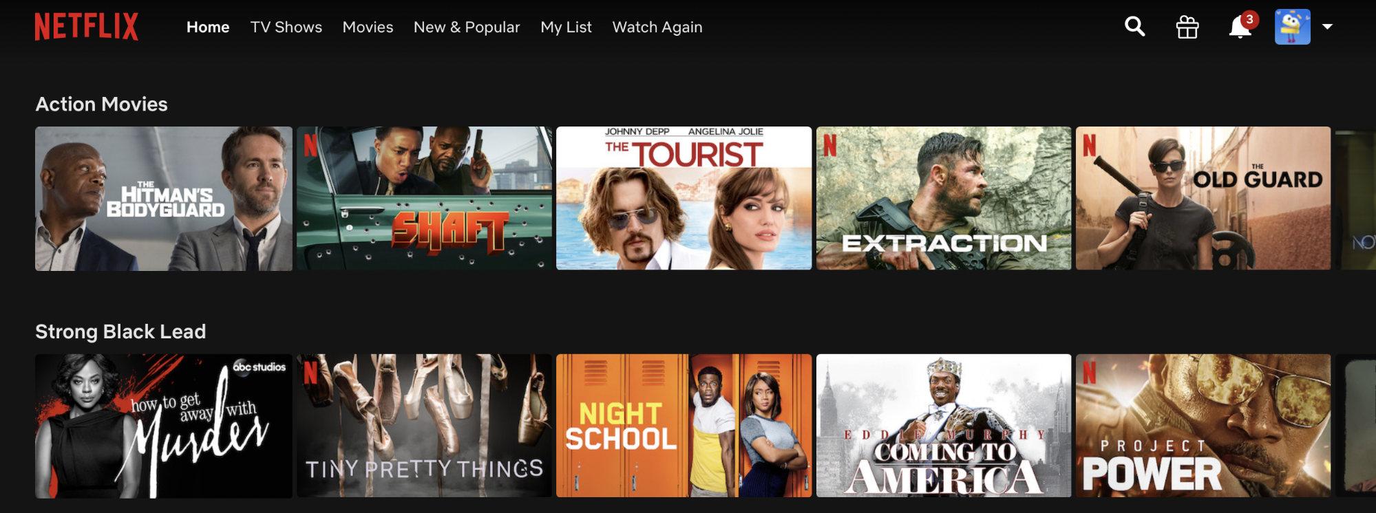 Netflix personalized content recommendations