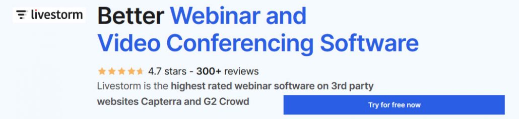 The highest rated webinar software on Capterra and G2 Crowd