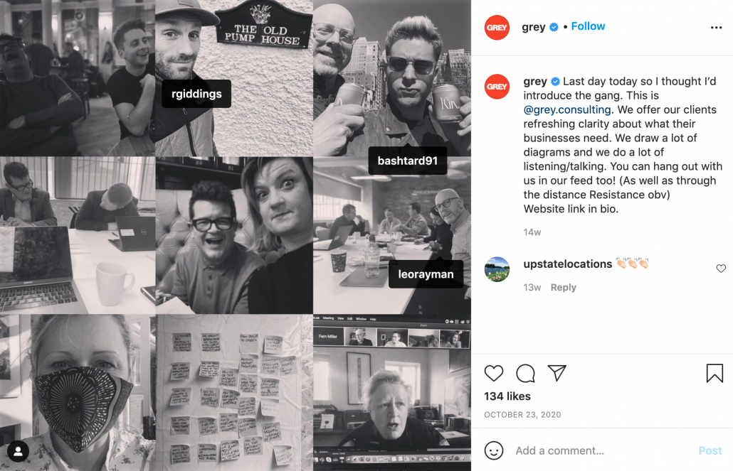 Another Instagram marketing example from Grey Advertising
