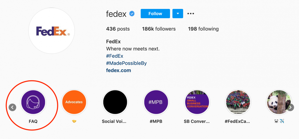 How FedEx uses Instagram for customer support