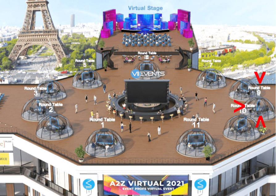 A2Z Virtual 2021 event stage