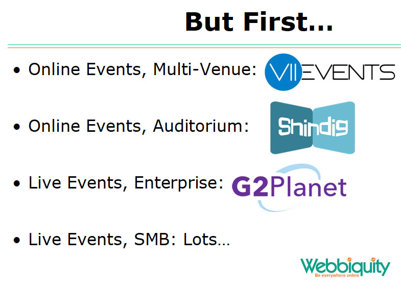 Top event technology vendors