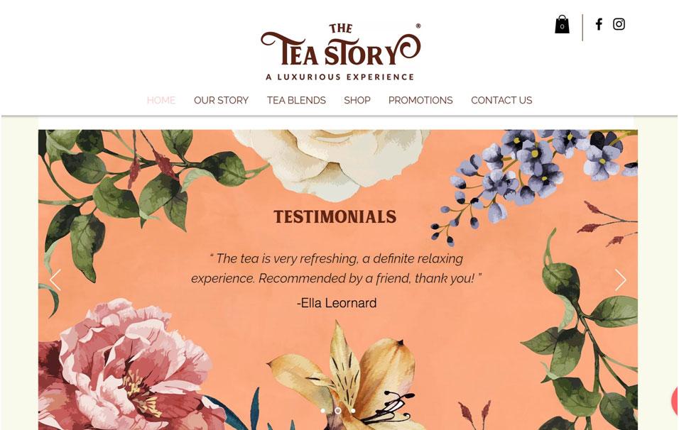 How The Tea Story uses customer testimonials