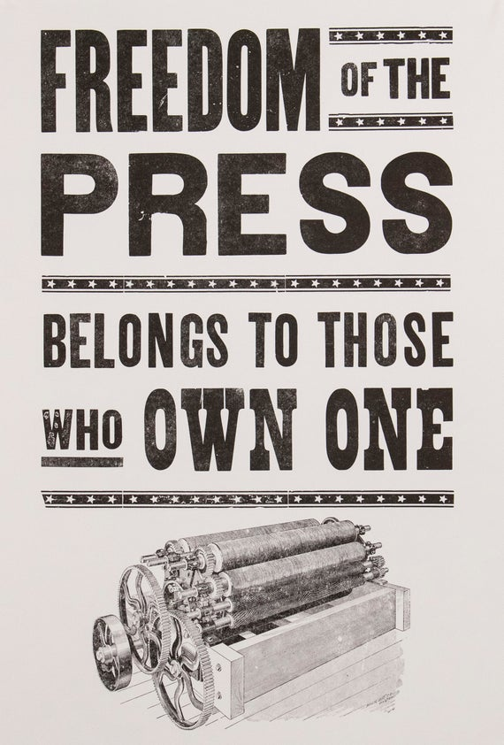 Freedom of the press was mostly theory before the Internet